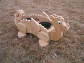 Click to enlarge image Dragon unstained - Cedar flower pot planters - Oh my Gosh!!!! They are so darn cute