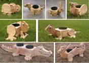 Click to enlarge image  - Cedar flower pot planters - Oh my Gosh!!!! They are so darn cute
