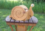 Click to enlarge image Snail stained - Cedar flower pot planters - Oh my Gosh!!!! They are so darn cute