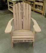 Click to enlarge image Standard Adirondack Chair, unstained, with optional carvings. - Redwood Collection - Our redwood collection is elegant, luxurious and simply beautiful.