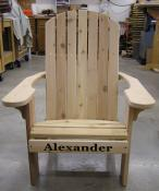 Click to enlarge image Standard Cedar Adirondack Chair - Personalize your chair -