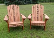 Click to enlarge image Redwood Adirondack chairs - Personalize your chair -