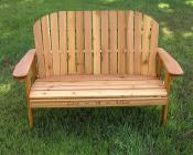 Click to enlarge image 50th annversary Garden Love Seat - Personalize your chair -