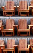 Click to enlarge image 6 personalized redwood Big Boy Adirondack Gliders - Personalize your chair -